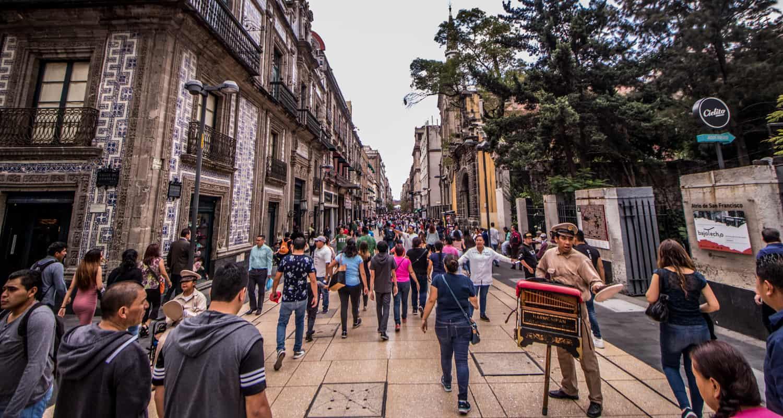 Calle Madero en Ciudad de México