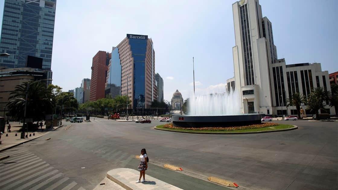 La soledad de Reforma y Bucareli ante el Covid-19, una vialidad que fuera una de las más transitadas del país