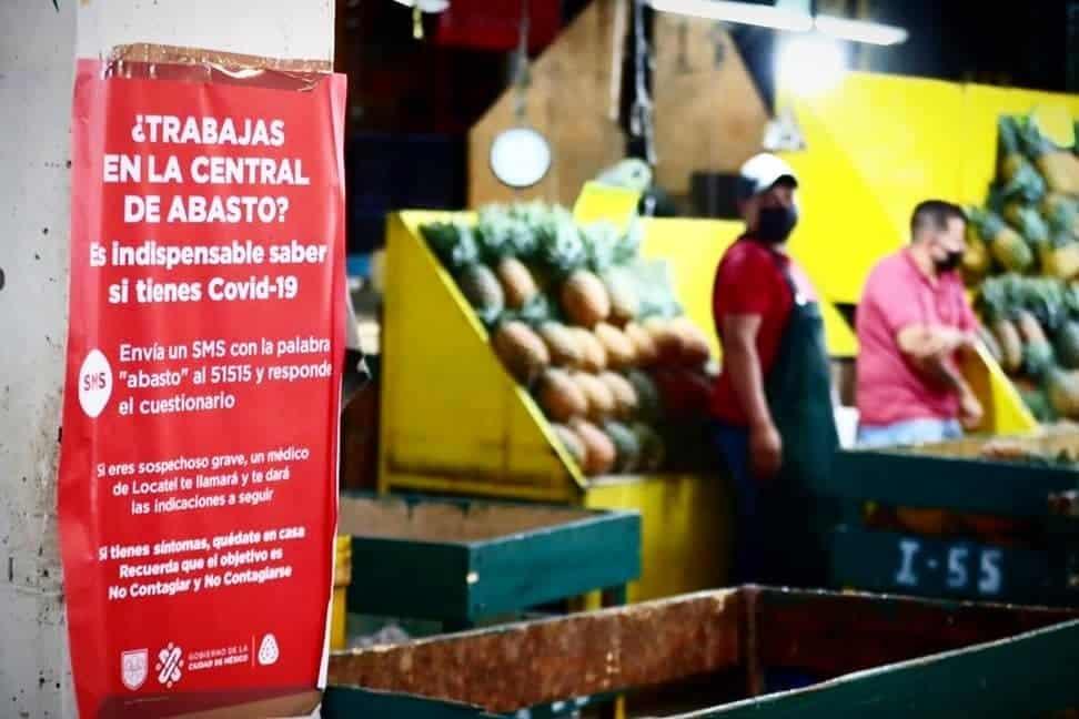 Ante los casos de Covid-19 entre bodegueros de la Central de Abasto, las autoridades intensificaron la campaña para que los trabajadores se sometan a exámenes de detección